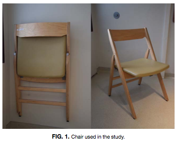 Chair Used in Posture Study