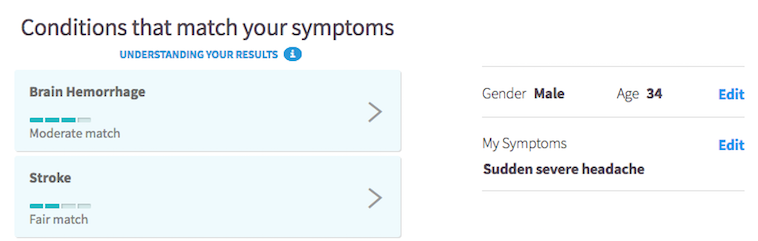 Symptom checker - headache